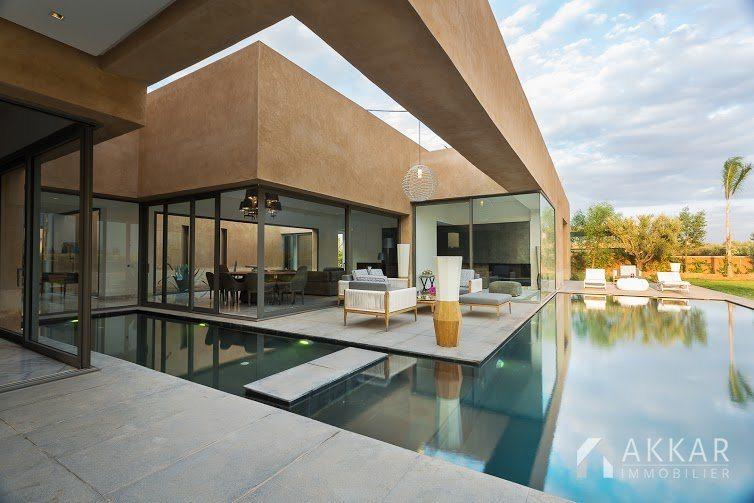 Vente villa marrakech villas moderne avec piscine for Villa a marrakech avec piscine