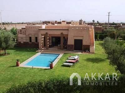 Vente Villa Marrakech Villa De Plain Pied A Vendre Route De Fez