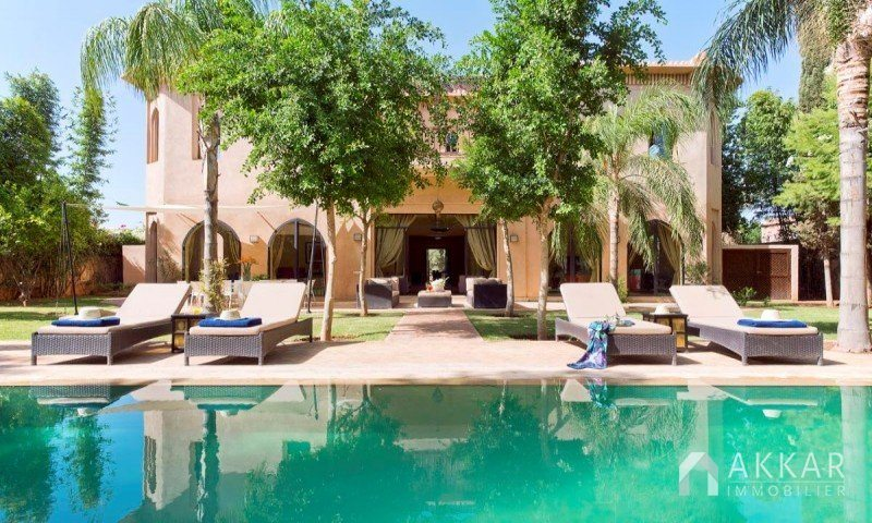Vente Villa Marrakech  Magnifique Villa Avec Piscine  Vendre