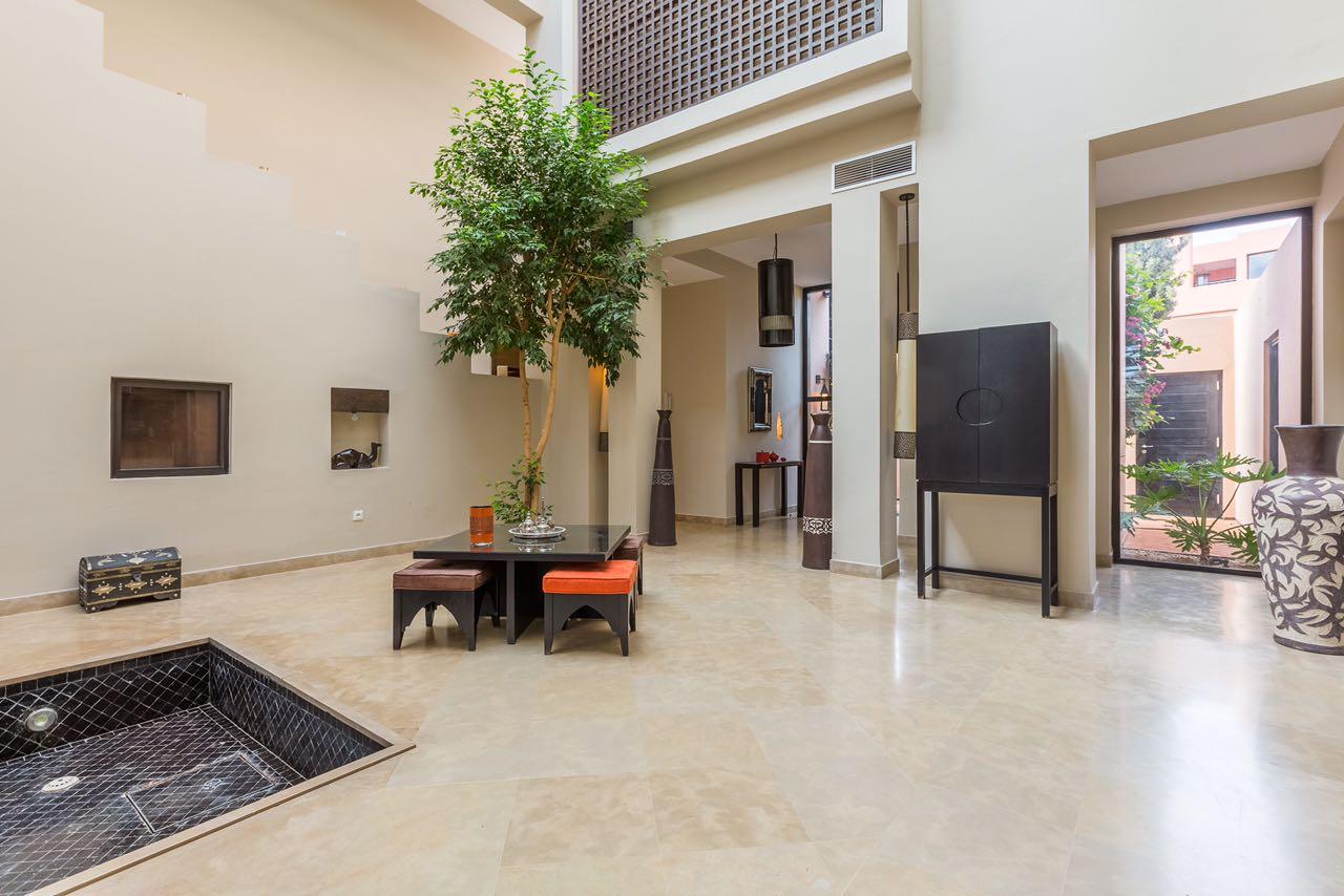 Location villa marrakech villa avec piscine chauff e for Prix piscine chauffee