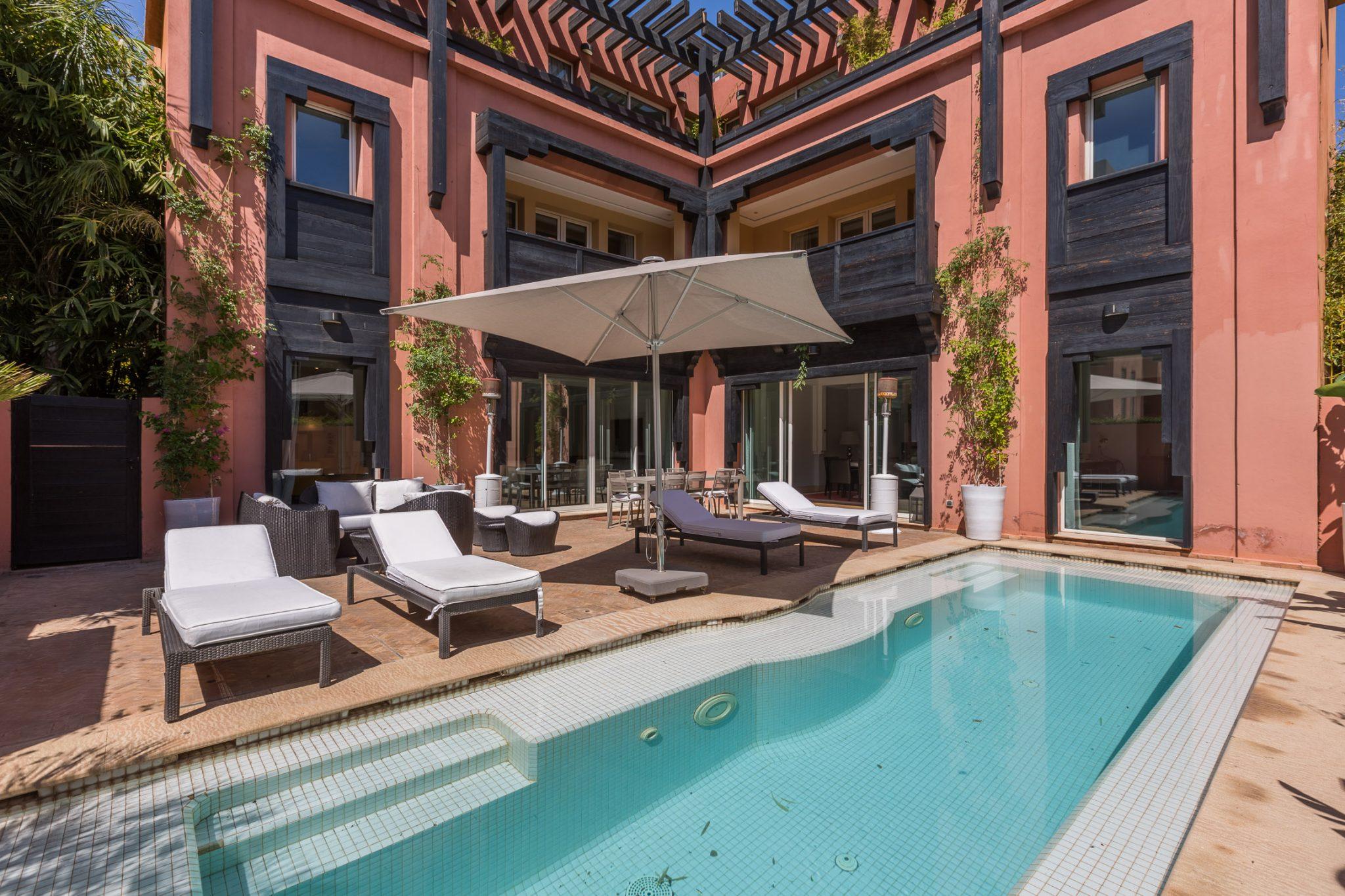 Location villa marrakech magnifique villa riad avec - Location maison avec piscine marrakech ...
