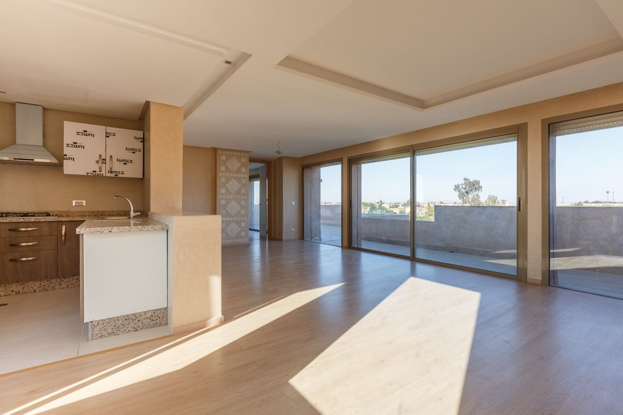 Location appartement marrakech appartement moderne avec for Location appartement avec terrasse