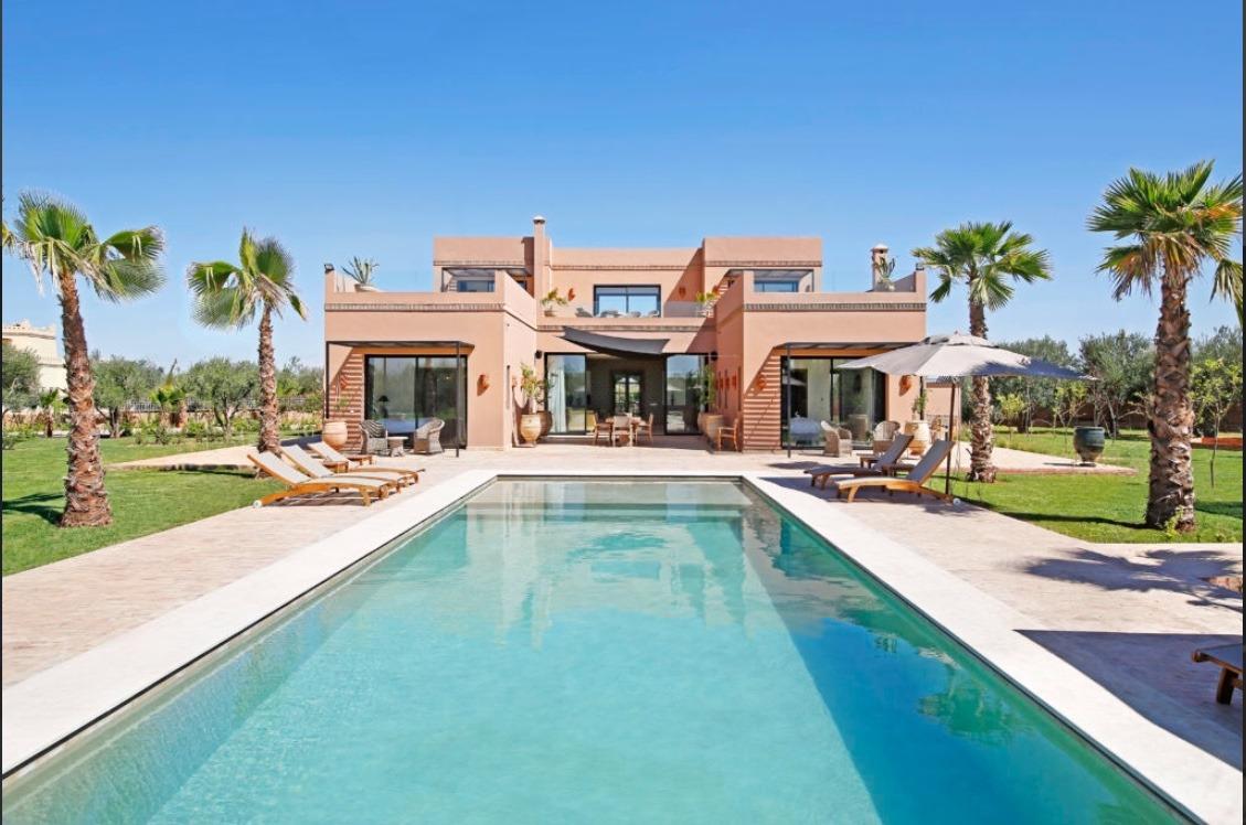 Location Saisonniere Villa Marrakech Tres Belle Villa Avec